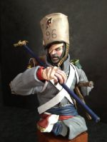 French Napoleonic Infantryman (After the Battle) Bust (v2)